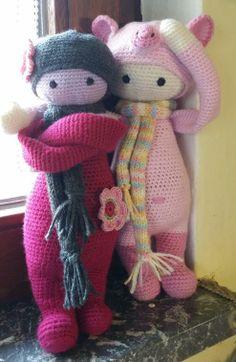 lalylala doll  pigglet mod made by Bettina O. / based on a lalylala crochet pattern