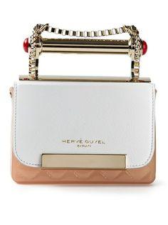 Hervê Guyel Paris - bi-colour square clutch