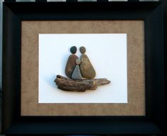 Pebble Art And Baby Makes Three.. Family by PumpkinandParsnip, $125.00