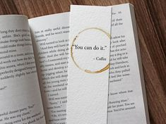 You Can Do It Coffee Quote, Coffee Lover Gift, Gift For Reader, Unique Bookmarks, Mother's Day Gift, Motivational Gift, Mother's Day Gift