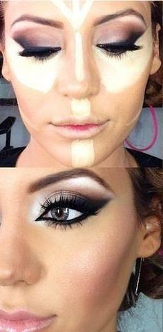 5 make up tips to make it PERFECT. Love the eye make up! Kiss Makeup, Love Makeup, Makeup Inspo, Makeup Inspiration, Hair Makeup, Makeup Ideas, Perfect Makeup, Witch Makeup, Scary Makeup