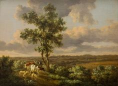 This oil painting by Henry Milbourne was in a style created in the early 19th century by English painters such as John Constable. Reacting against the spread of large industrial cities, this Romantic school of painting idealised the soft beauty of pastoral England. Early travellers and immigrants to New Zealand hoped to recreate such scenes in the new world.
