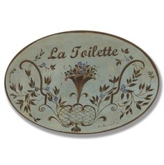 This is one of my favorites on totsy.com: La Toilette Brown/Blue Floral Oval
