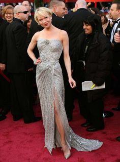The 100 best Oscar dresses of all time : Renee Zellweger in Carolina Herrera at the 2008 Oscars.