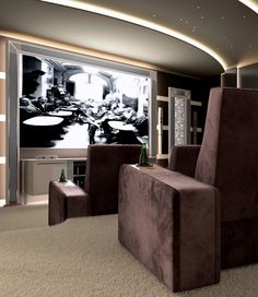 Take a seat, relax and enjoy Vismara Design Turnkey Private Cinema Room!! #vismaradesign #madeinitaly #homecinemaroom #luxuryvilla #privatecinema #entertainment