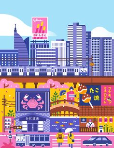 Illustrated Map of Osaka for Malaysia Airlines on Behance