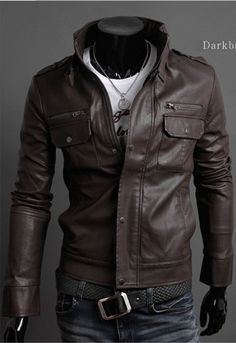 Men's Slim Leather Jacket http://www.his.boutique/collections ...