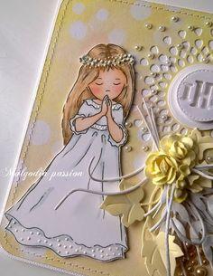 Malgodia Passion: Jeszcze komunijne kartki Cute Cards, Princess Zelda, Fictional Characters, Stationary, Design, Angels And Fairies, First Holy Communion, Anime Characters, Pretty Cards