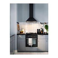 IKEA - VINDRUM, Veggmontert ventilator, 5 års garanti. Les om vilkårene i garantiheftet.Kontrollpanelet er plassert foran; enkelt å nå og bruke.Du kan enkelt ta av og rengjøre fettfilteret i oppvaskmaskin. 2 fettfiltre er inkludert.Halogenpærene gir et godt lys til matlaging. 2 halogenpærer er inkludert.Kan brukes på to måter; tilkoplet en ventil eller med kullfilter for resirkulering av luften.