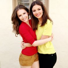 .@Victoria Brown Justice | Quinn AKA @erinzariah  Lola reunite on the set of BTR #Zoey101LivesOn ;)