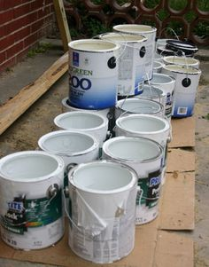 How Reuse, Recycle or Dispose of Used Paint. My house came with sooo many cans of paint in the basement.