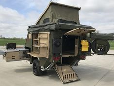 30 Best Off Road Camper Trailers - Rugged Rolling Camping Storage Conqueror Uev 440 Extreme North America Off Road CamperConqueror Uev 440 Extreme North America Off Road Camper Jeep Camping, Camping Hacks, Camping Storage, Family Camping, Camping Ideas, Airstream Camping, Off Road Camping, Camping Gadgets, Camping Supplies