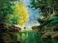 Resultado de imagem para pintura em tela de cachoeiras