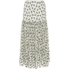 Giambattista Valli Floral Embroidered Lace Skirt (€2.325) ❤ liked on Polyvore featuring skirts, white, high waisted lace skirt, high rise skirts, high waisted midi skirt, high waisted knee length skirt and high-waist skirt