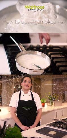 Leyli from the Waitrose Cookery School shows you an easy way to poach smoked fish in milk. Watch the recipe video on the Waitrose website. Smoked Fish, Food Videos, Seafood, Milk, Website, Watch, Cooking, School, Easy