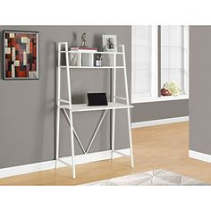 "Monarch Metal Computer Desk, White, 32"" Monarch…"