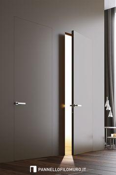 Flush Door Design, Door Gate Design, Door Design Interior, Modern Interior Design, Design Your Own Home, Home Room Design, Invisible Doors, Casa Milano, Porte Design