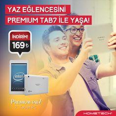 Serinleten fiyatıyla yaz eğlencesini Premium Tab 7 ile yaşa! http://www.hometech.com.tr/premium-tab-7