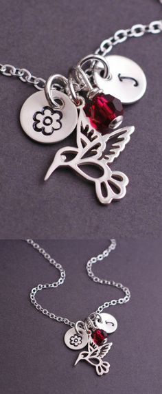 Lovely hummingbird necklace.