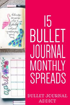 Monthly Layouts For Bullet Journals - Creative Bullet Journal Monthly Theme Ideas - Bullet Journal Monthly Spreads #bujo #bujolove #bulletjournal #monthlyspreads #spreads #bujospreads #bujomonthly