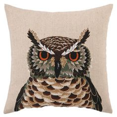 Hermes Owl Pillow. CALEY HAYES!!!