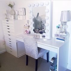 Create your own customized vanity!!! Ikea Furniture plus Vanity Girl Hollywood. Love this!