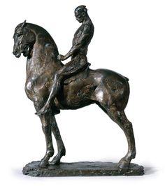 "Sculture ""Cavalier by Christophe Charbonnel Horse Sculpture, Modern Sculpture, Sculpture Clay, Animal Sculptures, Art Folder, Art Moderne, Equine Art, Wildlife Art, Horse Art"