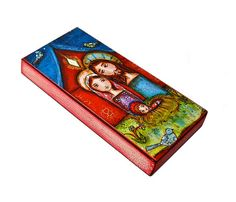 Nativity with Birds   Giclee print mounted on Wood 3 by FlorLarios