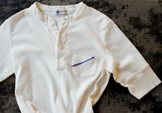The classic men's short sleeved Henley—a 1920′s design, re-interpreted by The House of Majd