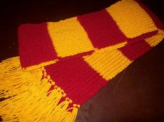 Harry Potter knitted scarf any one of the four by carolmouse58, $23.99