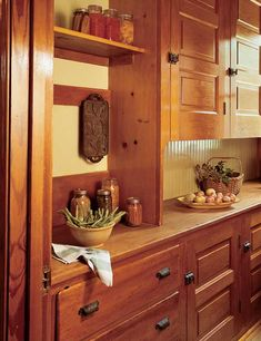 A turn-of-the-century butler's pantry, all cleaned up. Photo: Bob Shimer.