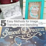 5 Easy Methods for Image Transfers and Stenciling