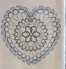 crochet heart, plus other diagram pattern goodies to crochet