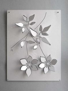 Aluminum decorative panel steel wallmounted by Logical Space design ArchiExpo Wallmounted decorative panel metal CLEMATIS Logicalspace Design CLEMATIS Aluminum. Sheet Metal Art, Metal Wall Art, Metal Crafts, Diy Arts And Crafts, Paper Cut Design, Design Art, Paper Art, Paper Crafts, Cut Out Art