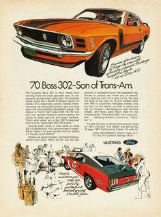 classic car ad - Ford Mustang