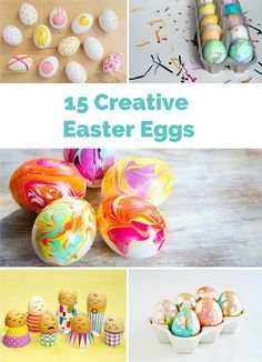 Creative and fun ways to decorate Easter eggs!