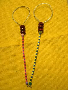 2 Large Handcrafted Beaded Bubble Wands  12 inches by Kats3meows, $13.50