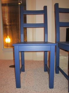 great & simple how to on painting IKEA Ivar chairs..
