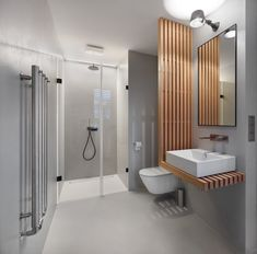 Find out all photos and details of MARNA APARTMENT, Czech Rep. Browse the complete collection of pictures and design drawings Washroom Design, Toilet Design, Bathroom Design Small, Bathroom Interior Design, Modern Bathroom, Minimalist Bathroom, Modern Apartment Design, Contemporary Apartment, Home Decoracion