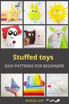 Easy baby sewing projects for beginners for stuffed toys, soft toys, softies, plushies. Detailed step-by-step patterns with photo tutorials that will help you sew the best baby gift, for baby shower or gift for newborn baby boy or baby girl. Easy Baby Sewing Patterns, Baby Clothes Patterns, Baby Sewing Projects, Sewing Projects For Beginners, Easy Patterns, Sewing Tutorials, Best Baby Gifts, Diy Baby Gifts, Newborn Baby Gifts
