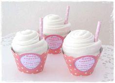 Cadeau naissance fille Body cupcake wrap #cadeaunaissancefille #bodybébé #babyshower
