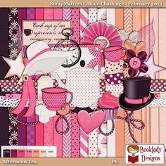 BookLady Designs: ScrapMatters Colour Challenge Freebie - February