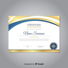 Graduation Certificate Template, Certificate Of Achievement Template, Certificate Design Template, Printable Certificates, Award Template, Certificate Of Appreciation, Make Ready, Deco, Vector Free
