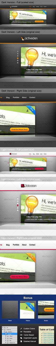 3D Banner Slider - GraphicRiver Item for Sale
