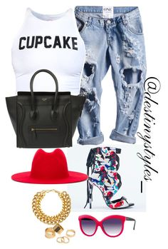 """""""Untitled #183"""" by iamdestinnny on Polyvore featuring Études, CÉLINE, A.V. Max, Pieces, Italia Independent, women's clothing, women, female, woman and misses"""