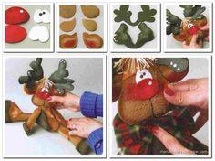 patrones o moldes de muñecos navideños - Buscar con Google