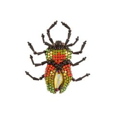 Gucci Bug crystal-embellished brooch ($580) ❤ liked on Polyvore featuring jewelry, brooches, gucci jewelry, gucci, druzy jewelry, oversized jewelry and gucci jewellery