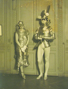 Gerald Murphy and his wife, Sara, arrayed for the Comte Étienne de Beaumont's 1924 Automotive Ball - Man Ray.