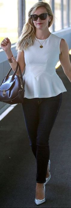 Reese Witherspoon: Sunglasses – Dior  Purse – Salvatore Ferragamo  Jeans – Frame  Shoes – Gianvito Rossi