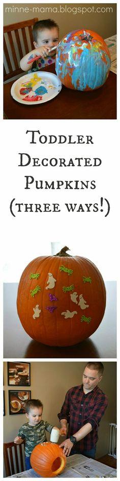 Minne-Mama: Toddler Decorated Pumpkins